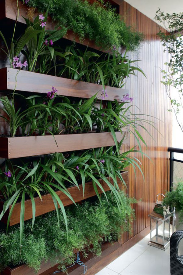 vách gỗ trồng cây trong nhà 2