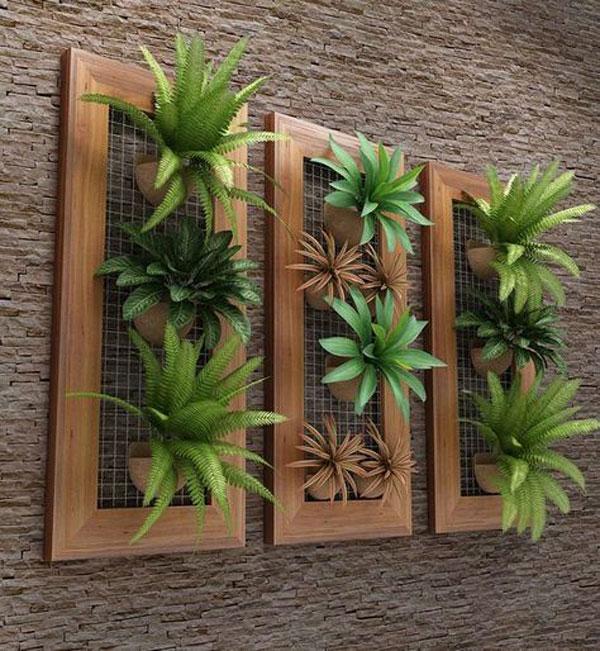 vách gỗ trồng cây trong nhà 3