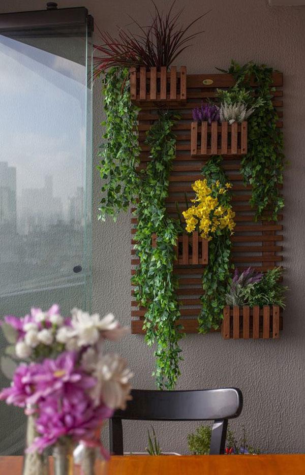 vách gỗ trồng cây trong nhà 4