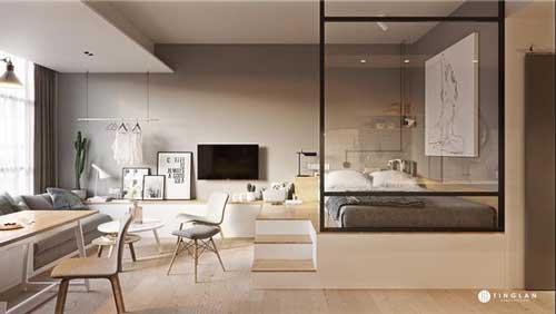 căn hộ studio thiết kế đẹp 12