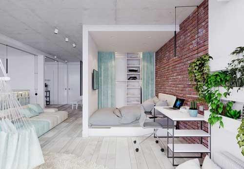 căn hộ studio thiết kế đẹp 14