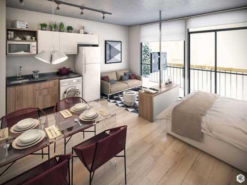 căn hộ studio thiết kế đẹp 7