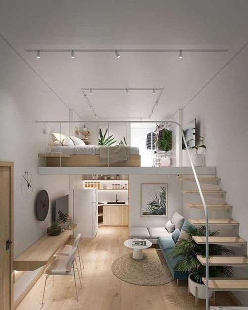 thiết kế căn hộ studio có gác lửng 5