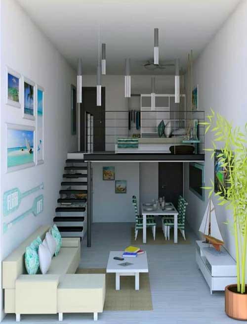 thiết kế căn hộ studio có gác lửng 6