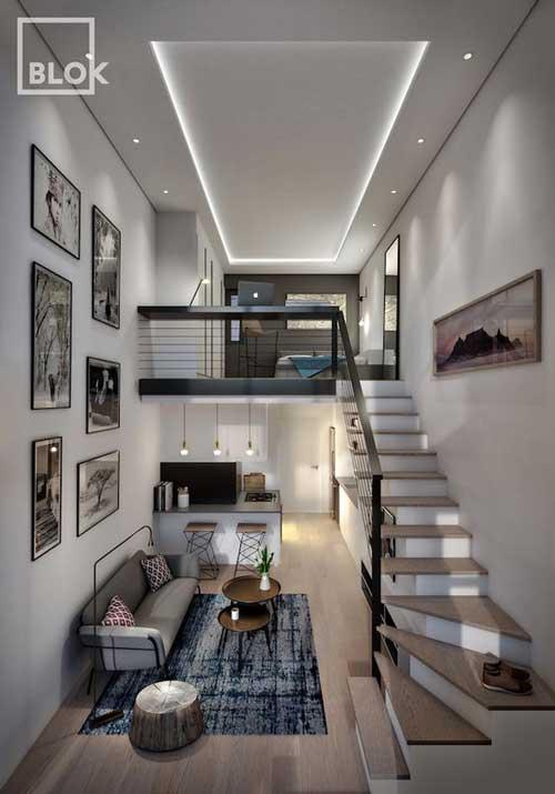 thiết kế căn hộ studio có gác lửng 7