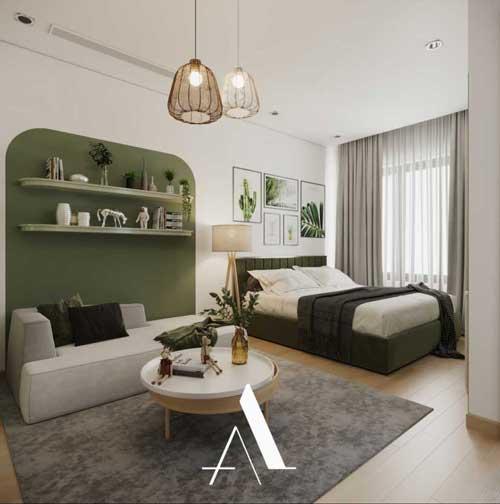 căn hộ studio thiết kế hiện đại 3