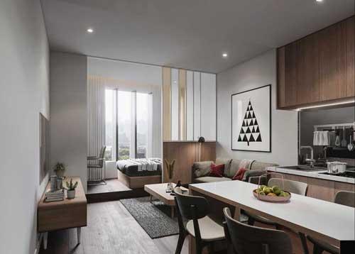 căn hộ studio thiết kế hiện đại 7