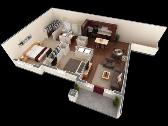 nội thất chung cư 2 phòng ngủ 13