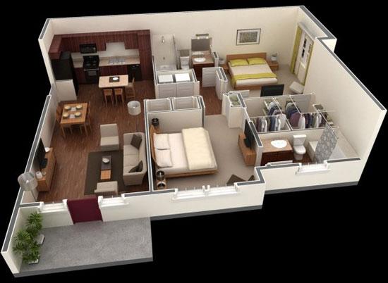 nội thất chung cư 2 phòng ngủ 14
