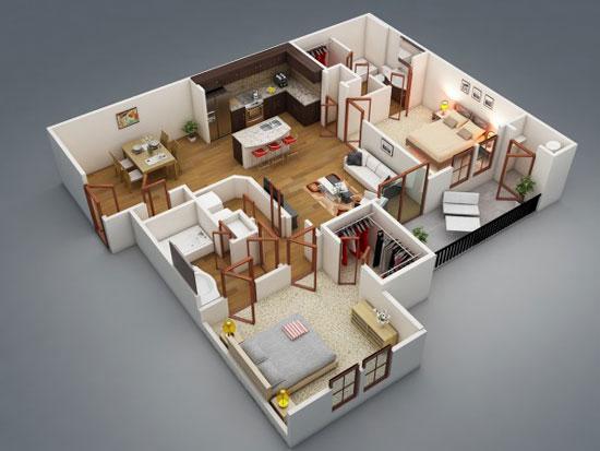 nội thất chung cư 2 phòng ngủ 2