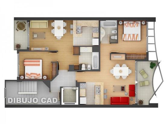 nội thất chung cư 2 phòng ngủ 31