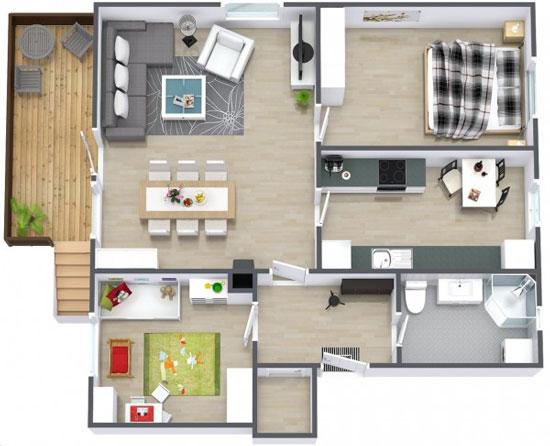 nội thất chung cư 2 phòng ngủ 32