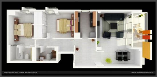 nội thất chung cư 2 phòng ngủ 33