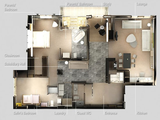 nội thất chung cư 2 phòng ngủ 34