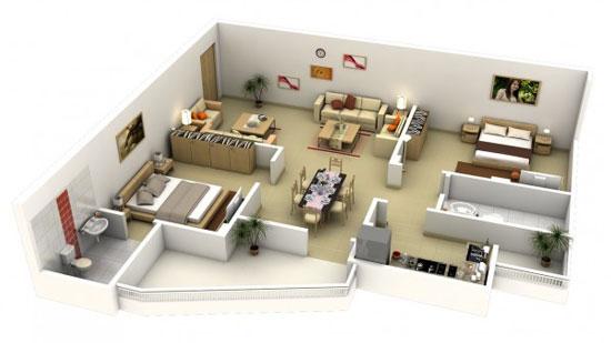 nội thất chung cư 2 phòng ngủ 41