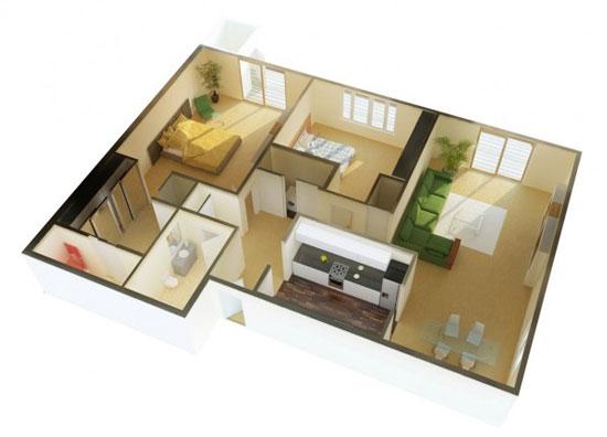 nội thất chung cư 2 phòng ngủ 46