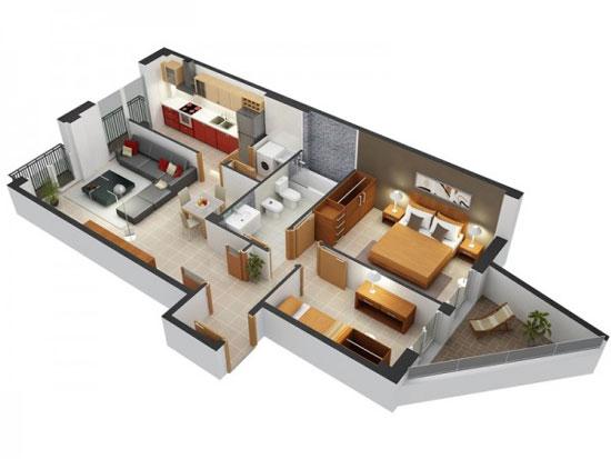 nội thất chung cư 2 phòng ngủ 8