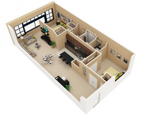nội thất chung cư 2 phòng ngủ 9