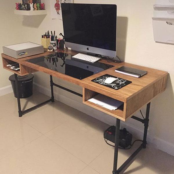 bàn làm việc chân sắt 2
