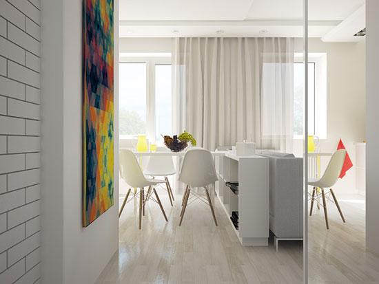thiết kế nội thất nhà chung cư 40m2 - 1