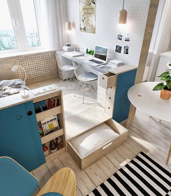 thiết kế nội thất nhà chung cư 40m2 - 12