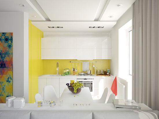 thiết kế nội thất nhà chung cư 40m2 - 2