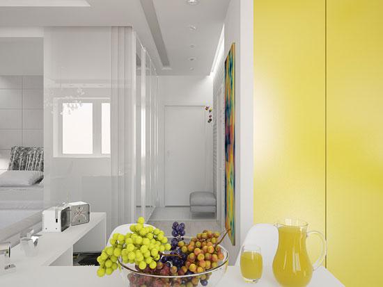 thiết kế nội thất nhà chung cư 40m2 - 3