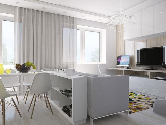 thiết kế nội thất nhà chung cư 40m2 - 6