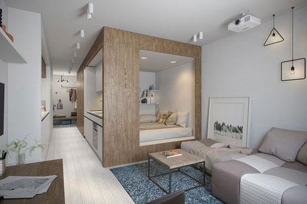 nội thất chung cư mini đơn giản 5