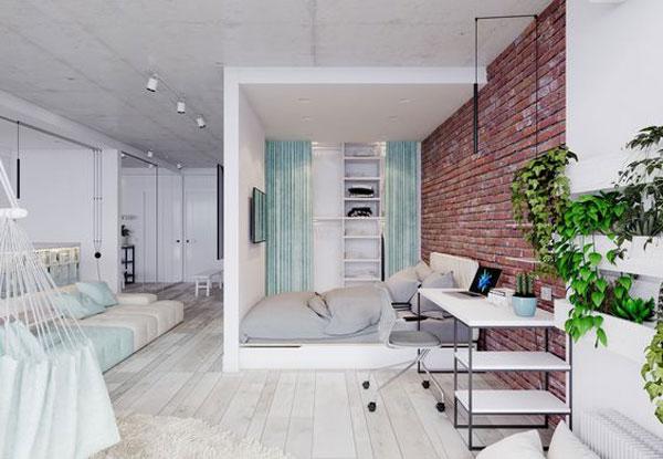 nội thất chung cư mini đơn giản 6