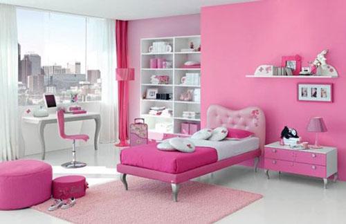 phòng ngủ màu hồng dễ thương cho bé gái 3