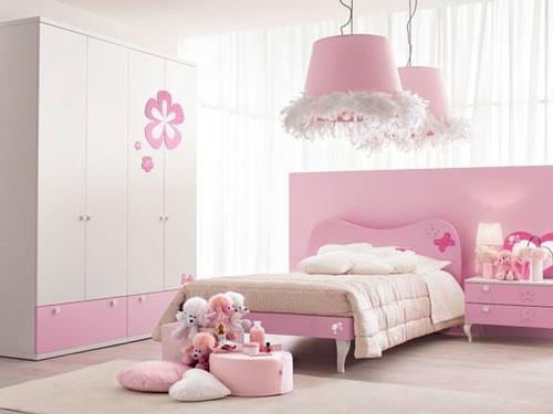 phòng ngủ màu hồng dễ thương cho bé gái 6