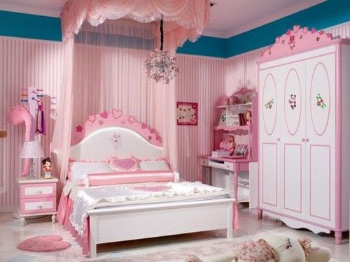 phòng ngủ màu hồng dễ thương cho bé gái 7