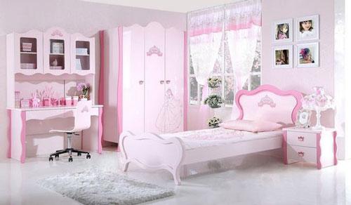 phòng ngủ màu hồng dễ thương cho bé gái 9