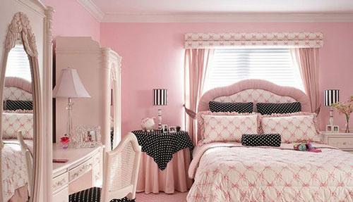 thiết kế phòng ngủ màu hồng 11