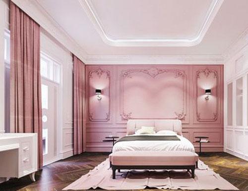 thiết kế phòng ngủ màu hồng 12