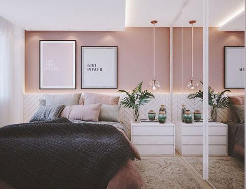 thiết kế phòng ngủ màu hồng 13