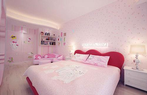 thiết kế phòng ngủ màu hồng 14