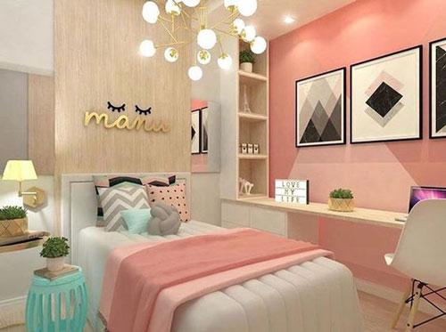thiết kế phòng ngủ màu hồng 3