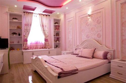 thiết kế phòng ngủ màu hồng 4