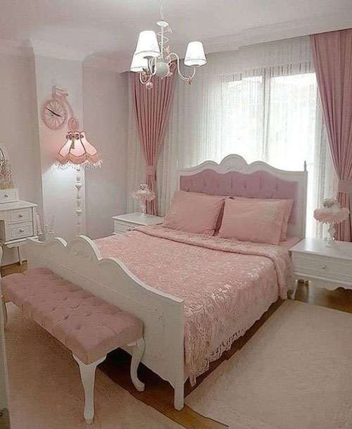 thiết kế phòng ngủ màu hồng 5