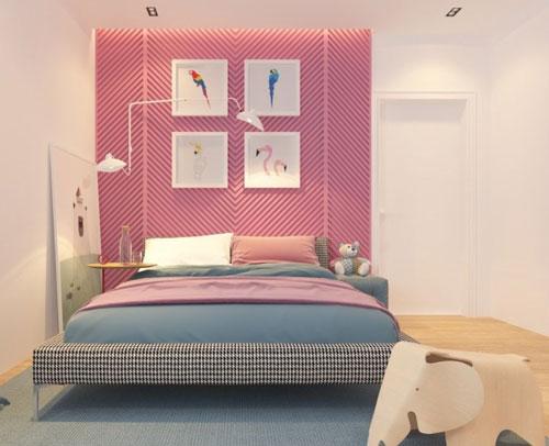thiết kế phòng ngủ màu hồng 6
