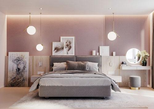 thiết kế phòng ngủ màu hồng 7
