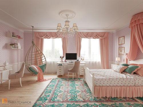 thiết kế phòng ngủ màu hồng 8