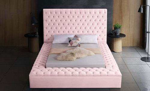 giường ngủ màu hồng 1