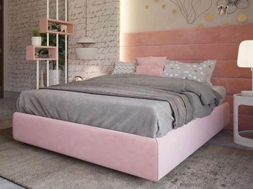 giường ngủ màu hồng 3