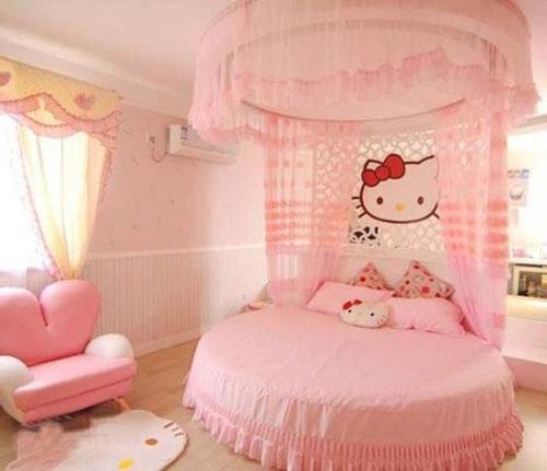 phòng ngủ hello kity màu hồng 5