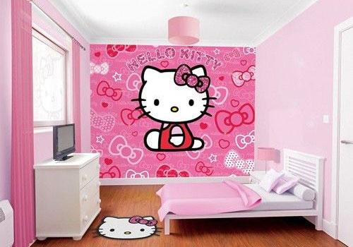 phòng ngủ hello kity màu hồng 7