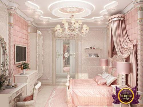 phòng ngủ sang trọng màu hồng 1