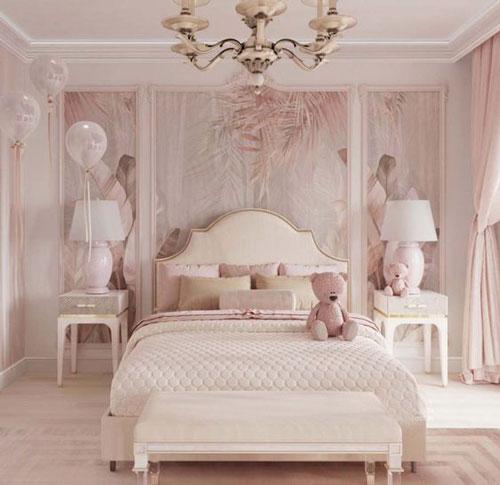 phòng ngủ sang trọng màu hồng 3